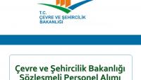 Çevre ve Şehircilik Bakanlığı Sözleşmeli Personel Alımı