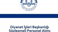 Diyanet İşleri Başkanlığı Sözleşmeli Personel Alımı