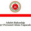 Adalet Bakanlığı 97 Personel Alımı Yapacak