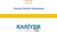 Kozan Devlet Hastanesi İş Başvurusu