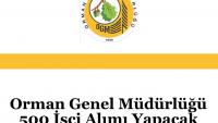 Orman Genel Müdürlüğü 500 İşçi Alımı Yapacak