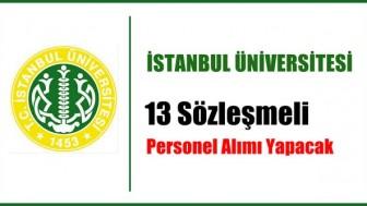 İstanbul Üniversitesi 113 Sözleşmeli Personel Alımı