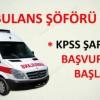 Ambulans Şoförlüğü İş Başvurusu