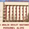 25 Aralık Devlet Hastanesi İş Başvurusu