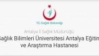 Antalya Eğitim Ve Araştırma Hastanesi İş Başvurusu