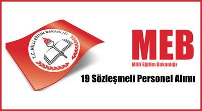 Meb 19 Sözleşmeli Personel Alımı