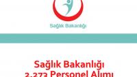 Sağlık Bakanlığı 2.273 Personel Alımı