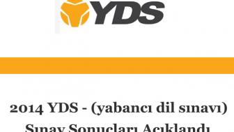 2014 YDS Sınav Sonuçları Açıklandı