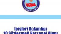 İçişleri Bakanlığı 10 Sözleşmeli Personel Alımı
