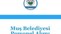Muş Belediyesi Personel Alımı
