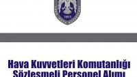 Hava Kuvvetleri Komutanlığı Sözleşmeli Personel Alımı